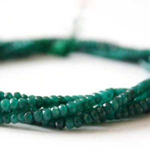 Shop Emerald Beads! COLORVILLA Clearance Sale 60% OFF Natural Green Emerald Quartz 4 mm Faceted Rondelle beads Strand length 14.5 inches | Natural genuine beads Emerald beads for beading and jewelry making.  #jewelry #beads #beadedjewelry #diyjewelry #jewelrymaking #beadstore #beading #affiliate #ad