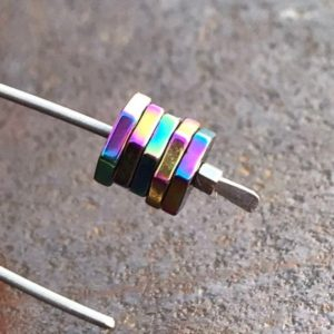 Colorful Titanium Earrings, Hypoallergenic Earring for Sensitive Ears, Simple Jewelry, Dainty Small Earing, Mothers Gift for Teacher, BFF | Natural genuine Gemstone earrings. Buy crystal jewelry, handmade handcrafted artisan jewelry for women.  Unique handmade gift ideas. #jewelry #beadedearrings #beadedjewelry #gift #shopping #handmadejewelry #fashion #style #product #earrings #affiliate #ad