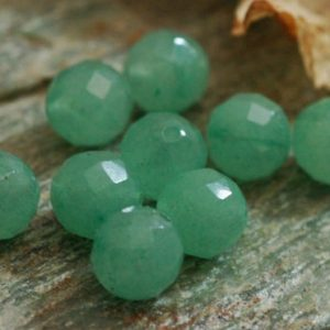 Shop Aventurine Faceted Beads! D115 – Loose Gemstone Beads, faceted Aventurine | Natural genuine faceted Aventurine beads for beading and jewelry making.  #jewelry #beads #beadedjewelry #diyjewelry #jewelrymaking #beadstore #beading #affiliate #ad
