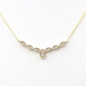 Shop Diamond Necklaces! Women's Diamond Necklace/14K Solid gold Art Deco style Diamond Necklace/Dainty Bar Diamond Necklace/Unique necklace diamond necklace   Natural genuine Diamond necklaces. Buy crystal jewelry, handmade handcrafted artisan jewelry for women.  Unique handmade gift ideas. #jewelry #beadednecklaces #beadedjewelry #gift #shopping #handmadejewelry #fashion #style #product #necklaces #affiliate #ad