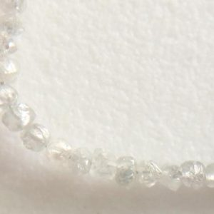 Shop Diamond Bead Shapes! 4 Inch 2mm Rare Clear White Diamond Uncut Beads, Natural Raw Clear White Diamond Beads, Designer Clear Diamonds – DDP179 | Natural genuine other-shape Diamond beads for beading and jewelry making.  #jewelry #beads #beadedjewelry #diyjewelry #jewelrymaking #beadstore #beading #affiliate #ad