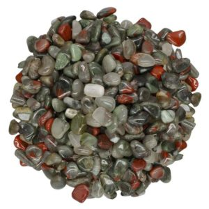 "Shop Tumbled Bloodstone Crystals & Pocket Stones! Digging Dolls: 18 lbs Tumbled Bloodstone (Sephtonite) Stones from Africa – 0.40"" to 0.60"" avg. -Beautiful Polished Rocks! (Size #4) 