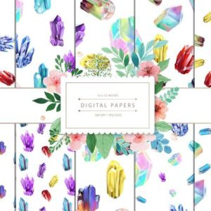 Shop Printable Crystal Cards, Pages, & Posters! DIGITAL PAPERS Crystal Seamless Pattern | graphic resources printable, scrapbook papers, background design, pattern design, instant download | Shop jewelry making and beading supplies, tools & findings for DIY jewelry making and crafts. #jewelrymaking #diyjewelry #jewelrycrafts #jewelrysupplies #beading #affiliate #ad