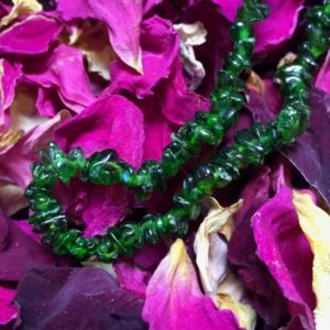 """Shop Diopside Bracelets! Triple 'V"""": Vibrant, Vivacious, Verdurous – Chrome Diopside Bracelet (1H) 