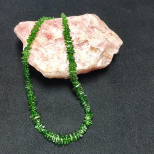 Shop Diopside Necklaces! My Guardian! Chrome Diopside a.k.a. Siberian Emerald and Sterling Silver Necklace (2-B) | Natural genuine Diopside necklaces. Buy crystal jewelry, handmade handcrafted artisan jewelry for women.  Unique handmade gift ideas. #jewelry #beadednecklaces #beadedjewelry #gift #shopping #handmadejewelry #fashion #style #product #necklaces #affiliate #ad