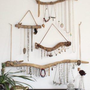 Shop Storage for Beading Supplies! Driftwood Jewelry Organizer – Made to Order Jewelry Hangers – Pick the Driftwood – Boho Decor Small Space Storage Jewelry Display | Shop jewelry making and beading supplies, tools & findings for DIY jewelry making and crafts. #jewelrymaking #diyjewelry #jewelrycrafts #jewelrysupplies #beading #affiliate #ad