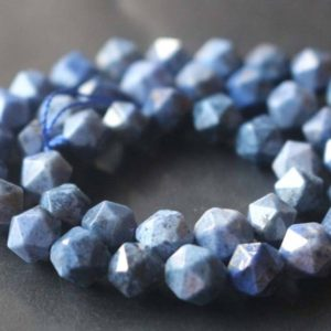 Shop Dumortierite Beads! Natural Faceted Dumortierite Star Cut Nugget Beads,6mm/8mm/10mm/12mm Beads Supply,15 inches one starand | Natural genuine chip Dumortierite beads for beading and jewelry making.  #jewelry #beads #beadedjewelry #diyjewelry #jewelrymaking #beadstore #beading #affiliate #ad