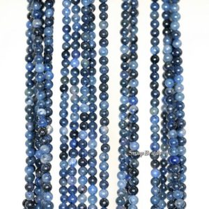 Shop Dumortierite Beads! 2mm African Blue Dumortierite Gemstone Blue Round 2mm Loose Beads 16 inch Full Strand (90149645-170-E) | Natural genuine round Dumortierite beads for beading and jewelry making.  #jewelry #beads #beadedjewelry #diyjewelry #jewelrymaking #beadstore #beading #affiliate #ad