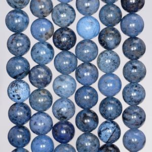 Shop Dumortierite Beads! 6mm South Africa Dumortierite Light Blue Gemstone Grade AAA Blue Round 6mm Loose Beads 15 inch Full Strand (80004628-115) | Natural genuine round Dumortierite beads for beading and jewelry making.  #jewelry #beads #beadedjewelry #diyjewelry #jewelrymaking #beadstore #beading #affiliate #ad