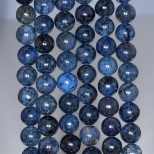8mm South Africa Blue Dumortierite Gemstone Grade AAA Dark Blue Round 8mm Loose Beads 15.5 inch Full Strand (90183611-115) | Natural genuine beads Dumortierite beads for beading and jewelry making.  #jewelry #beads #beadedjewelry #diyjewelry #jewelrymaking #beadstore #beading #affiliate #ad