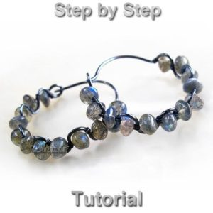 Shop Jewelry Making Tutorials! Earrings tutorial Hoops tutorial DIY hoops earrings Wire wrap tutorial Wire wrapped jewelry tutorial beading tutorial earrings pattern PDF | Shop jewelry making and beading supplies, tools & findings for DIY jewelry making and crafts. #jewelrymaking #diyjewelry #jewelrycrafts #jewelrysupplies #beading #affiliate #ad