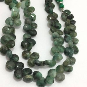 Shop Emerald Faceted Beads! Emerald Shaded Faceted Hearts Beads, 7mm to 8mm, 8 inches, Green Beads, Shaded Beads, Gemstone Beads, Semiprecious Stone Beads | Natural genuine faceted Emerald beads for beading and jewelry making.  #jewelry #beads #beadedjewelry #diyjewelry #jewelrymaking #beadstore #beading #affiliate #ad
