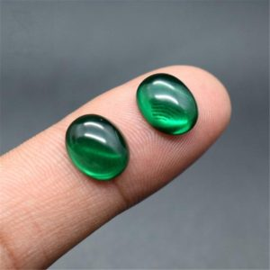 Shop Emerald Stones & Crystals! Emerald Oval Cabochon Smooth Polished Surface Egg Shape Rich Green Emerald Cabochon Flat Back Multiple Sizes to Choose C59E | Natural genuine stones & crystals in various shapes & sizes. Buy raw cut, tumbled, or polished gemstones for making jewelry or crystal healing energy vibration raising reiki stones. #crystals #gemstones #crystalhealing #crystalsandgemstones #energyhealing #affiliate #ad