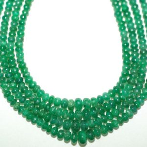 Shop Emerald Rondelle Beads! Emerald Rondelle Beads Green 16 inches Full Strand 50 Carats Graduated 6mm to 3mm | Natural genuine rondelle Emerald beads for beading and jewelry making.  #jewelry #beads #beadedjewelry #diyjewelry #jewelrymaking #beadstore #beading #affiliate #ad