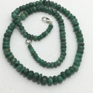 Shop Emerald Rondelle Beads! Natural Emerald Smooth Rondelle With Clasp ,4mm to 8mm, 18 inches, Green Beads, Gemstone Beads Semiprecious Stone Beads | Natural genuine rondelle Emerald beads for beading and jewelry making.  #jewelry #beads #beadedjewelry #diyjewelry #jewelrymaking #beadstore #beading #affiliate #ad