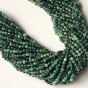 Shop Emerald Round Beads! 4mm Emerald Round Beads, Natural Emerald Plain Round Balls, 13 Inch Emerald Plain Rondelle Strand For Jewelry (1ST To 5ST Options) – NT15 | Natural genuine round Emerald beads for beading and jewelry making.  #jewelry #beads #beadedjewelry #diyjewelry #jewelrymaking #beadstore #beading #affiliate #ad