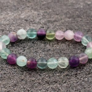 Shop Fluorite Bracelets! 8mm Rainbow Fluorite Bracelet, Purple Fluorite Bracelets 8 mm, Fluorite Bracelets, Fluorite Bead Bracelet, Fluorite Crystals, Gift For Her, | Natural genuine Fluorite bracelets. Buy crystal jewelry, handmade handcrafted artisan jewelry for women.  Unique handmade gift ideas. #jewelry #beadedbracelets #beadedjewelry #gift #shopping #handmadejewelry #fashion #style #product #bracelets #affiliate #ad