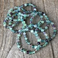 Fluorite And Tanzan Aura Grounding Bracelet Ws2868 | Natural genuine Gemstone jewelry. Buy crystal jewelry, handmade handcrafted artisan jewelry for women.  Unique handmade gift ideas. #jewelry #beadedjewelry #beadedjewelry #gift #shopping #handmadejewelry #fashion #style #product #jewelry #affiliate #ad