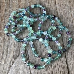 Shop Fluorite Bracelets! Fluorite and Tanzan Aura Grounding Bracelet WS2868 | Natural genuine Fluorite bracelets. Buy crystal jewelry, handmade handcrafted artisan jewelry for women.  Unique handmade gift ideas. #jewelry #beadedbracelets #beadedjewelry #gift #shopping #handmadejewelry #fashion #style #product #bracelets #affiliate #ad