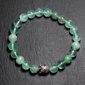 Shop Fluorite Bracelets! Gemstone – green Fluorite 8 mm and Buddha bracelet | Natural genuine Fluorite bracelets. Buy crystal jewelry, handmade handcrafted artisan jewelry for women.  Unique handmade gift ideas. #jewelry #beadedbracelets #beadedjewelry #gift #shopping #handmadejewelry #fashion #style #product #bracelets #affiliate #ad