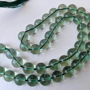 Shop Fluorite Necklaces! 9-10mm Fluorite Beads, Natural Green Fluorite Plain Round Beads, Huge Fluorite Green Plain Balls, Fluorite For Necklace (8IN To 16IN Option) | Natural genuine Fluorite necklaces. Buy crystal jewelry, handmade handcrafted artisan jewelry for women.  Unique handmade gift ideas. #jewelry #beadednecklaces #beadedjewelry #gift #shopping #handmadejewelry #fashion #style #product #necklaces #affiliate #ad