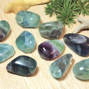 Shop Tumbled Fluorite Crystals & Pocket Stones! Fluorite Tumbled Stones Natural Green Purple Gemstone Polished Pocket Stone Healing Protecting birthday holiday gift for her him 51036 | Natural genuine stones & crystals in various shapes & sizes. Buy raw cut, tumbled, or polished gemstones for making jewelry or crystal healing energy vibration raising reiki stones. #crystals #gemstones #crystalhealing #crystalsandgemstones #energyhealing #affiliate #ad