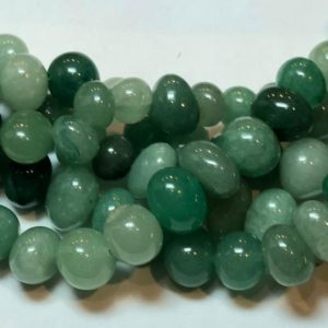 "Shop Aventurine Chip & Nugget Beads! Freeform Aventurine nuggets. Full 15"" strand of 10-12mm Aventurine semi-round nuggets, approx. 50 beads per strand. Irregular potato shape. 