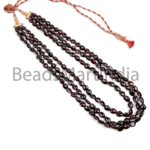 Shop Garnet Chip & Nugget Beads! Garnet Plain Smooth Nugget Beads Necklace, Garnet Plain Nugget Beads, Smooth Garnet Beads, Garnet Nugget Shape Necklace | Natural genuine chip Garnet beads for beading and jewelry making.  #jewelry #beads #beadedjewelry #diyjewelry #jewelrymaking #beadstore #beading #affiliate #ad