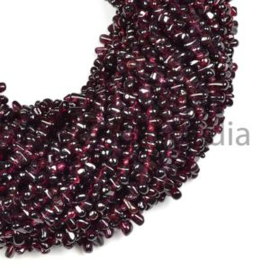 Shop Garnet Bead Shapes! Garnet Smooth Drops Beads, Garnet Plain Beads, Garnet Drops Beads, Garnet Drops Shape Beads, Natural Garnet Beads, Drops Gemstone Beads | Natural genuine other-shape Garnet beads for beading and jewelry making.  #jewelry #beads #beadedjewelry #diyjewelry #jewelrymaking #beadstore #beading #affiliate #ad