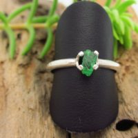 Raw Tsavorite Garnet Ring In Sterling Silver | Green Garnet Crystal Ring | Cast & Set In Usa | Natural genuine Gemstone jewelry. Buy crystal jewelry, handmade handcrafted artisan jewelry for women.  Unique handmade gift ideas. #jewelry #beadedjewelry #beadedjewelry #gift #shopping #handmadejewelry #fashion #style #product #jewelry #affiliate #ad
