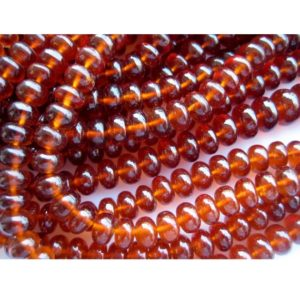 Hessonite Garnet – AAAgems – Rondelle Beads – 8mm To 5mm Beads – 16 Inch Strand – 115 Pieces | Natural genuine rondelle Garnet beads for beading and jewelry making.  #jewelry #beads #beadedjewelry #diyjewelry #jewelrymaking #beadstore #beading #affiliate #ad