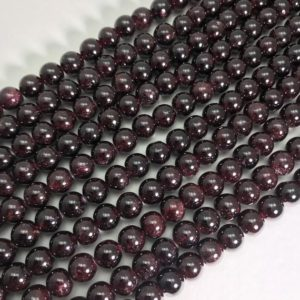 Shop Garnet Round Beads! NEW Natural Garnet Smooth Round Beads Size Vary 6mm/8mm/10mm/12mm, A Grade Garnet Beads, Gemstone Beads,Birthstone Beads, Gifts Beads. | Natural genuine round Garnet beads for beading and jewelry making.  #jewelry #beads #beadedjewelry #diyjewelry #jewelrymaking #beadstore #beading #affiliate #ad