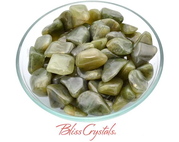 1 Grossularite Olive Tumbled Stone Aka Green Garnet Healing Crystal And Stone For Relaxation #gt16