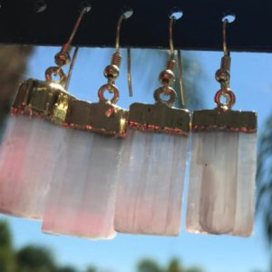 Shop Selenite Earrings! Gold Selenite Crystal Earrings | Natural genuine Selenite earrings. Buy crystal jewelry, handmade handcrafted artisan jewelry for women.  Unique handmade gift ideas. #jewelry #beadedearrings #beadedjewelry #gift #shopping #handmadejewelry #fashion #style #product #earrings #affiliate #ad