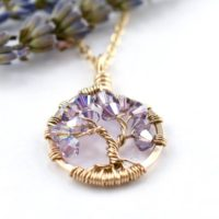 Gold Tree Of Life Necklace Alexandrite Necklace Tree Of Life Pendant, 60th Birthday Gifts For Women, June Birthstone Necklace, Wife Gift | Natural genuine Gemstone jewelry. Buy crystal jewelry, handmade handcrafted artisan jewelry for women.  Unique handmade gift ideas. #jewelry #beadedjewelry #beadedjewelry #gift #shopping #handmadejewelry #fashion #style #product #jewelry #affiliate #ad