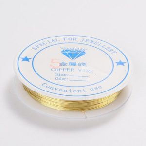 Shop Beading Wire! Golden Jewelry Wire  Artistic Soft Wire Copper Wire  9.5 m Roll  24 gauge Golden Jewelry  Wire   Golden Wire for  WIRE Wrapping | Shop jewelry making and beading supplies, tools & findings for DIY jewelry making and crafts. #jewelrymaking #diyjewelry #jewelrycrafts #jewelrysupplies #beading #affiliate #ad