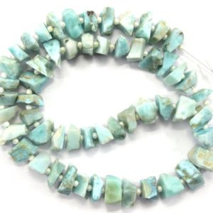 Shop Larimar Chip & Nugget Beads! Good Quality 1 Strand Natural Larimar Gemstone,50 Pieces Center Drilled Rough Gemstone,Size 6-8 MM Larimar Rough, Making Jewelry Wholesale | Natural genuine chip Larimar beads for beading and jewelry making.  #jewelry #beads #beadedjewelry #diyjewelry #jewelrymaking #beadstore #beading #affiliate #ad