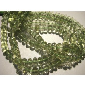 Shop Green Amethyst Beads! 8mm Green Amethyst Micro Faceted Rondelles, Green Amethyst Faceted Beads, Green Amethyst Beads For Jewelry (5IN To 10IN options) | Natural genuine faceted Green Amethyst beads for beading and jewelry making.  #jewelry #beads #beadedjewelry #diyjewelry #jewelrymaking #beadstore #beading #affiliate #ad