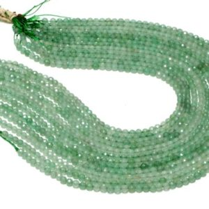 """Shop Aventurine Faceted Beads! Green aventurine faceted round beads,green beads,gemstone beads,aventurine beads,loose beads,semiprecious beads – 16"""" Full Strand 
