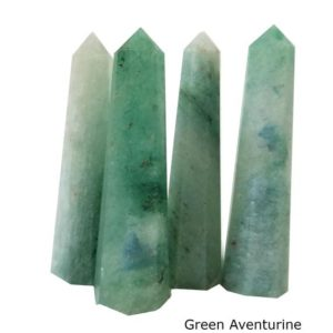 "Shop Aventurine Points & Wands! 1 Green Aventurine Tower Wand Point, Green Aventurine Crystal Polished, Grade ""A"" Green Aventurine Crystal 