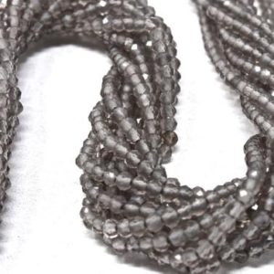 """Shop Moonstone Rondelle Beads! Grey Moonstone Rondelle Beads, 2mm Silver Gemstone Beads, 13"""" Strand Gray Micro Faceted Rondelles, Jewelry Making Supplies   Natural genuine rondelle Moonstone beads for beading and jewelry making.  #jewelry #beads #beadedjewelry #diyjewelry #jewelrymaking #beadstore #beading #affiliate #ad"""