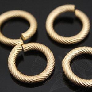 Shop Jump Rings! H425- 100pcs-Matt Gold Plated-12mm Jump Ring-Open Link | Shop jewelry making and beading supplies, tools & findings for DIY jewelry making and crafts. #jewelrymaking #diyjewelry #jewelrycrafts #jewelrysupplies #beading #affiliate #ad