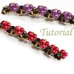 Shop Jewelry Making Tutorials! Hair Clip Tutorial Beading Tutorial Beaded Barette Berries Sweet Hair Clip Pattern Beaded Hair Accessories Hair Clip Bead Pattern | Shop jewelry making and beading supplies, tools & findings for DIY jewelry making and crafts. #jewelrymaking #diyjewelry #jewelrycrafts #jewelrysupplies #beading #affiliate #ad