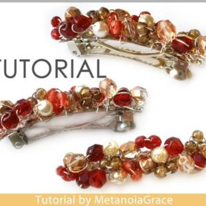 Shop Jewelry Making Tutorials! Hair Clip Tutorial, French Barrette Tutorial, Beading Pattern, Hair Accessories, Beaded Hair Clip, Hair Clip Pattern, Barrette Pattern | Shop jewelry making and beading supplies, tools & findings for DIY jewelry making and crafts. #jewelrymaking #diyjewelry #jewelrycrafts #jewelrysupplies #beading #affiliate #ad