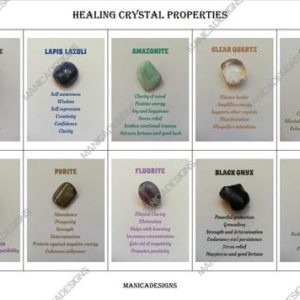 Shop Printable Crystal Cards, Pages, & Posters! Set 2, Healing Crystal Information Cards, Crystal Meanings, Printable  Crystal Cards, For Crystal Sellers, Jewelry Makers, Instant Download | Shop jewelry making and beading supplies, tools & findings for DIY jewelry making and crafts. #jewelrymaking #diyjewelry #jewelrycrafts #jewelrysupplies #beading #affiliate #ad