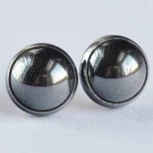 Shop Hematite Jewelry! hematite 8mm sterling silver stud earrings pair | Natural genuine Hematite jewelry. Buy crystal jewelry, handmade handcrafted artisan jewelry for women.  Unique handmade gift ideas. #jewelry #beadedjewelry #beadedjewelry #gift #shopping #handmadejewelry #fashion #style #product #jewelry #affiliate #ad