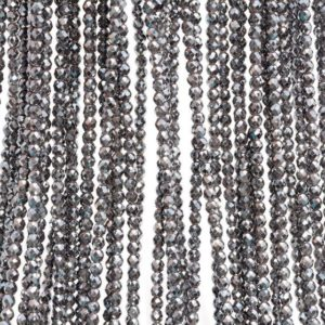 Shop Hematite Faceted Beads! 3mm Hematite Gemstone Black Grade AAA Micro Faceted Round Beads 15.5 inch Full Strand (80007438-A261)   Natural genuine faceted Hematite beads for beading and jewelry making.  #jewelry #beads #beadedjewelry #diyjewelry #jewelrymaking #beadstore #beading #affiliate #ad