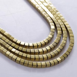 Golden Hematite gemstone beads for jewelry making gold cube beads for craft & supplies gold hematite loose beads | Natural genuine other-shape Gemstone beads for beading and jewelry making.  #jewelry #beads #beadedjewelry #diyjewelry #jewelrymaking #beadstore #beading #affiliate #ad