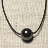 Necklace Pendant Gemstone – Hematite Ball 14mm | Natural genuine Gemstone jewelry. Buy crystal jewelry, handmade handcrafted artisan jewelry for women.  Unique handmade gift ideas. #jewelry #beadedjewelry #beadedjewelry #gift #shopping #handmadejewelry #fashion #style #product #jewelry #affiliate #ad