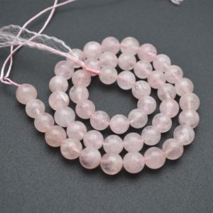 Shop Morganite Round Beads! High Quality Natural Pure Pink Morganite Stone Round Loose Beads 6mm 8mm 10mm 12mm | Natural genuine round Morganite beads for beading and jewelry making.  #jewelry #beads #beadedjewelry #diyjewelry #jewelrymaking #beadstore #beading #affiliate #ad